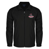 Full Zip Black Wind Jacket-Arcadia Knights Stacked