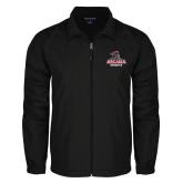 Full Zip Black Wind Jacket-Arcadia Knights Stacked