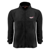 Fleece Full Zip Black Jacket-Official Logo