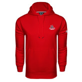 Under Armour Red Performance Sweats Team Hoodie-Arcadia Knights Stacked