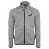 Grey Heather Fleece Jacket-Official Logo