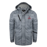 Grey Brushstroke Print Insulated Jacket-Arcadia Knights Stacked