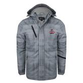 Grey Brushstroke Print Insulated Jacket-Arcadia Knights Stacked