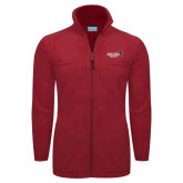 Columbia Full Zip Cardinal Fleece Jacket-Official Logo