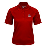 Ladies Cardinal Textured Saddle Shoulder Polo-Arcadia Knights Stacked