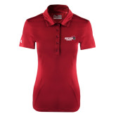 Ladies Under Armour Cardinal Performance Polo-Official Logo