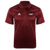 Adidas Climalite Cardinal Jaquard Select Polo-Official Logo