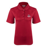 Ladies Cardinal Dry Mesh Polo-Arcadia Knights Stacked