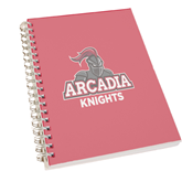 Clear 7 x 10 Spiral Journal Notebook-Arcadia Knights Stacked