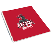 College Spiral Notebook w/Clear Coil-Arcadia Knights Stacked