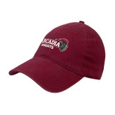 Cardinal Twill Unstructured Low Profile Hat-Official Logo