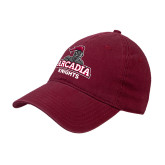 Cardinal Twill Unstructured Low Profile Hat-Arcadia Knights Stacked