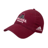 Adidas Cardinal Slouch Unstructured Low Profile Hat-Arcadia Knights Stacked