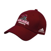 Adidas Cardinal Structured Adjustable Hat-Arcadia Knights Stacked