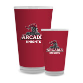 Full Color Glass 17oz-Arcadia Knights Stacked