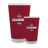 Full Color Glass 17oz-2017 ECAC Softball Champions Stencil