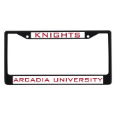 Metal License Plate Frame in Black-Knights