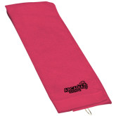 Pink Raspberry Golf Towel-Official Logo