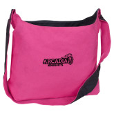 Cotton Canvas Tropical Pink/Charcoal Sling Bag-Official Logo