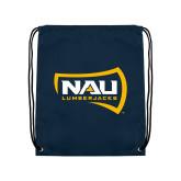 Navy Drawstring Backpack-NAU Lumberjacks