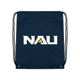 Navy Drawstring Backpack-NAU
