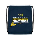 Navy Drawstring Backpack-2017 NCAA Division I Mens Cross Country Champions