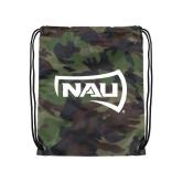 Camo Drawstring Backpack-NAU Primary Mark