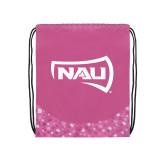 Nylon Pink Bubble Patterned Drawstring Backpack-NAU Primary Mark