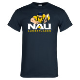 Navy T Shirt-NAU Lumberjacks with Louie