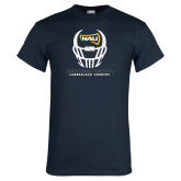Navy T Shirt-Football Helmet Design