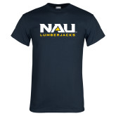 Navy T Shirt-NAU Lumberjacks Stacked