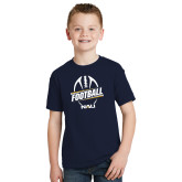 Youth Navy T Shirt-Football Design