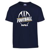 Youth Navy T Shirt-Football Design