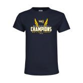 Youth Navy T Shirt-NCAA Division I Mens Cross Country Champions
