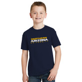 Youth Navy T Shirt-Northern Arizona University Stacked