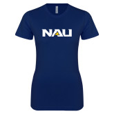 Next Level Ladies SoftStyle Junior Fitted Navy Tee-NAU