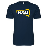 Next Level SoftStyle Navy T Shirt-NAU Primary Mark