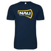 Next Level SoftStyle Navy T Shirt-NAU Lumberjacks