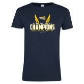 Ladies Navy T Shirt-NCAA Division I Mens Cross Country Champions