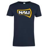 Ladies Navy T Shirt-NAU Lumberjacks