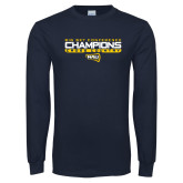 Navy Long Sleeve T Shirt-Big Sky Conference Champions
