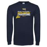 Navy Long Sleeve T Shirt-2017 NCAA Division I Mens Cross Country Champions