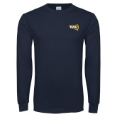 Navy Long Sleeve T Shirt-NAU Lumberjacks