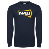 Navy Long Sleeve T Shirt-NAU Primary Mark