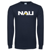 Navy Long Sleeve T Shirt-NAU