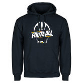 Navy Fleece Hoodie-Football Design