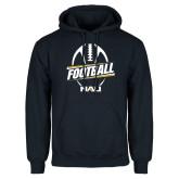 Navy Fleece Hoodie-Football Design