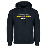 Navy Fleece Hoodie-Cross Country Arrow Design