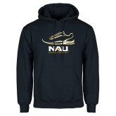 Navy Fleece Hoodie-Cross Country Shoe Design
