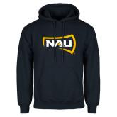 Navy Fleece Hoodie-NAU Primary Mark